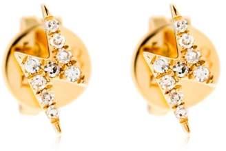 Ef Collection Diamond Lightning Bolt Stud Earrings