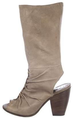 Barneys New York Barney's New York Leather Mid-Calf Boots