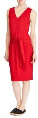 Lauren Ralph Lauren Tie-Front Sleeveless Knee-Length Dress