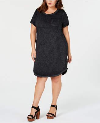 Planet Gold Trendy Plus Size T-Shirt Dress