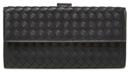 Bottega Veneta Intrecciato Nappa Leather Continental Snap Wallet