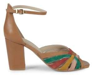 25a6d6599430 Seychelles Leather   Suede Ankle-Strap Heeled Sandals