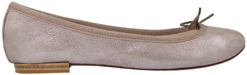 Repetto Bb Crystal Leather Ballet Flat In Sugar