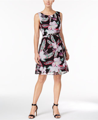 Connected Belted Floral-Print Dress $79 thestylecure.com