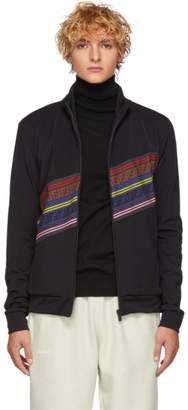 Fendi Black Striped Forever Zip-Up Sweater