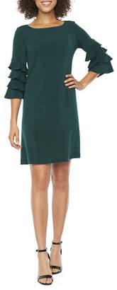 Danny & Nicole 3/4 Cha Cha Sleeve Shift Dress