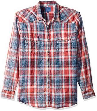 Lucky Brand Men's Casual Long Sleeve Western Button Down Shirt