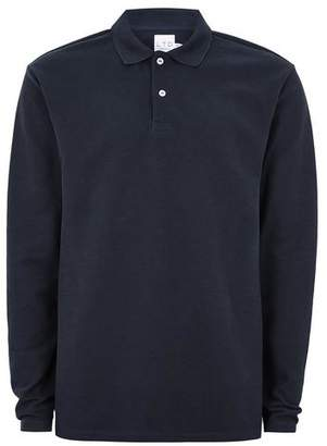 Topman Mens LTD Navy Long Sleeve Polo