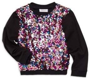 Milly Minis Little Girl's& Girl's Sequin Combo Sweater