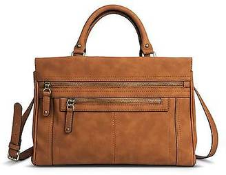 Merona; Women's Solid Satchel Faux Leather Handbag with Zipper Pockets - Merona; $44.99 thestylecure.com