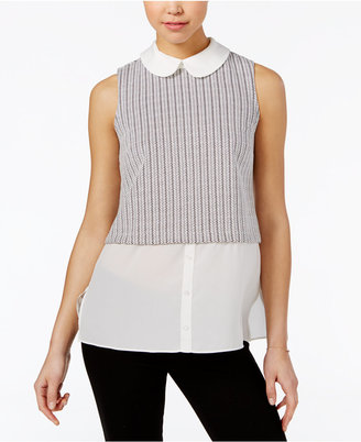 Maison Jules Layered Contrast Top, Only at Macy's $39.50 thestylecure.com
