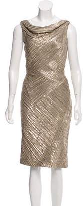 Zac Posen Sleeveless Metallic Dress