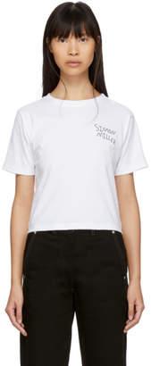 Simon Miller White Cropped Logo Rondo T-Shirt