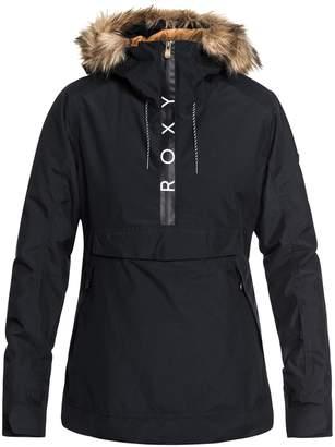 Roxy Shelter Faux Fur Hood Anorak