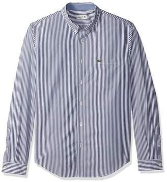 Lacoste Men's Long Sleeve Bengal Stripe Regular Fit Woven Shirt
