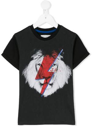 John Galliano lion lightning bolt printed T-shirt