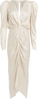 Ronny Kobo Astrid Jacquard Ruched Dress