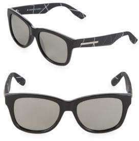 McQ 53MM Square Stripe Sunglasses