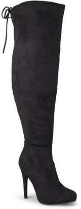 Brinley Co. Womens Wide Calf High Heel Over-the-knee Boots
