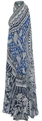 Camilla Convertible Printed Silk Crepe De Chine Halterneck Coverup