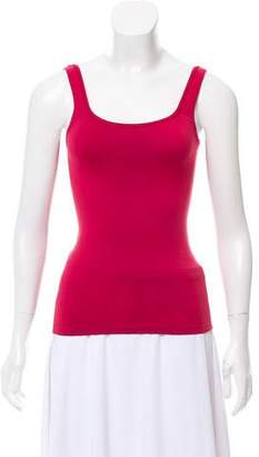 Bergdorf Goodman Crew Neck Sleeveless Top