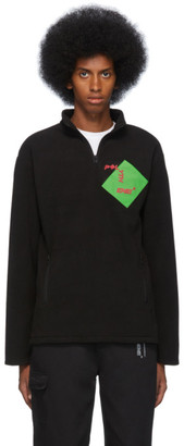 Polythene* Optics Black Fleece Quarter-Zip Sweatshirt