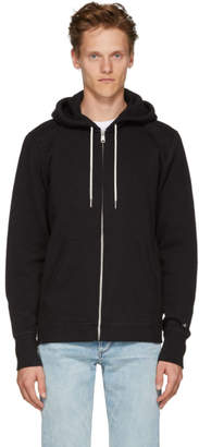Rag & Bone Black Classic Zip-Up Hoodie