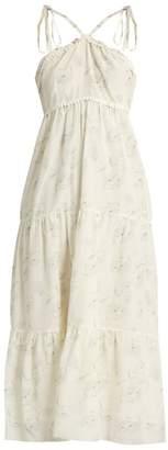 Athena Procopiou - Romance In The Wind Cotton Blend Dress - Womens - White Print