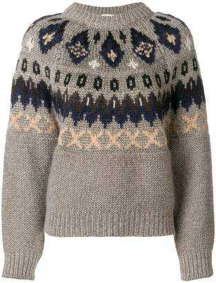 Forte Forte lurex nordic knit sweater