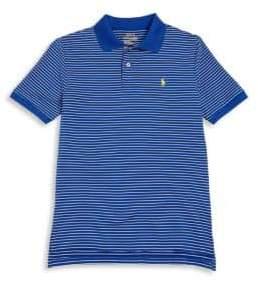Ralph Lauren Little Boy's& Boys Tennis-Hem Striped Polo