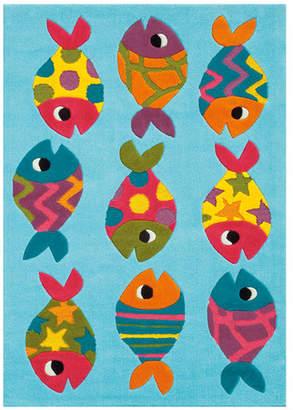 Blue Fish Designer Kids Rug
