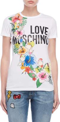 Love Moschino White Graphic Tee
