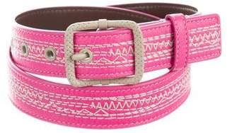 Bottega Veneta Embroidered Leather Belt
