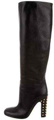 Gucci Studded Mid-Calf Boots w/ Tags