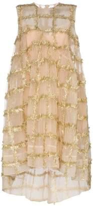 Simone Rocha Gold Embellished Babydoll Dress