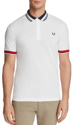 Fred Perry Tipped Pique Short Sleeve Polo Shirt