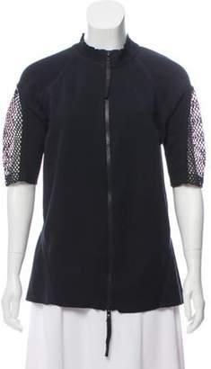 Marni Mid-Sleeve Zippered Cardigan Mid-Sleeve Zippered Cardigan