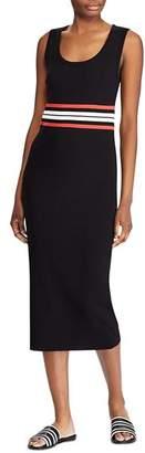 Ralph Lauren Sleeveless Waist-Stripe Midi Dress