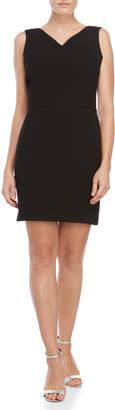 Maje Black V-Neck Sheath Dress