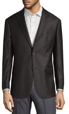 Michael Kors Grid Wool Jacket