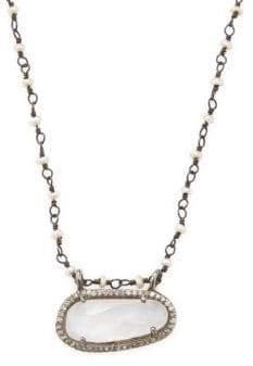 Kaia Multi-Stone Silver Rosary Bead Necklace