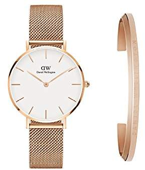 Daniel Wellington Women's DW00500003 Gift Set - Classic Petite Melrose 32mm with Classic Cuff Watch