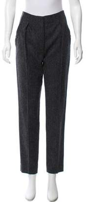 Burberry Wool High-Rise Pants