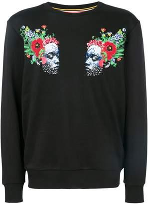 Les Benjamins face print sweatshirt