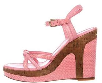 Louis Vuitton Snakeskin Platform Wedges