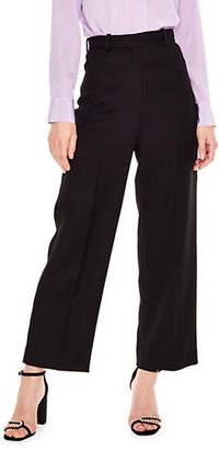 Sandro Wool-Blend High-Waist Pants