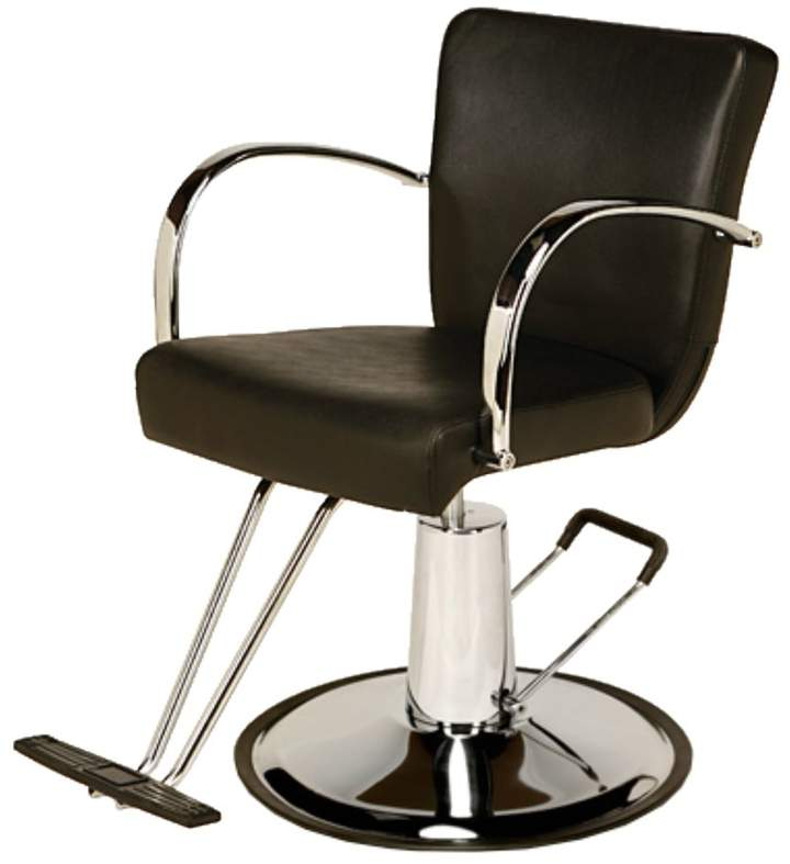 Veeco AR-D002-B Emily Styling Chair Black with Round Base