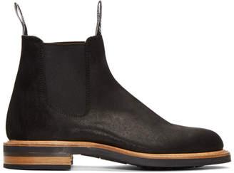 R.M. Williams Black Gardener Full Welt Chelsea Boots