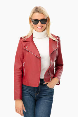 BB Dakota Vegan Leather Moto Jacket