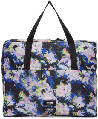 MSGM Multicolor Eastpak Edition Flowers Tote